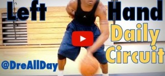 How To Improve Your Left Hand: Dribbling & Layups Daily Drill Circuit for Basketball | Dre Baldwin
