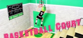 How to Make a Doll Basketball Court – Doll Crafts
